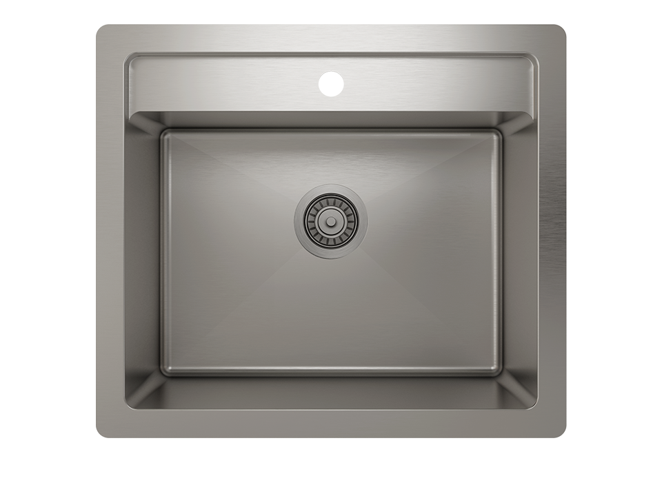 Stainless steel utility sink, handcrafted  - Prochef