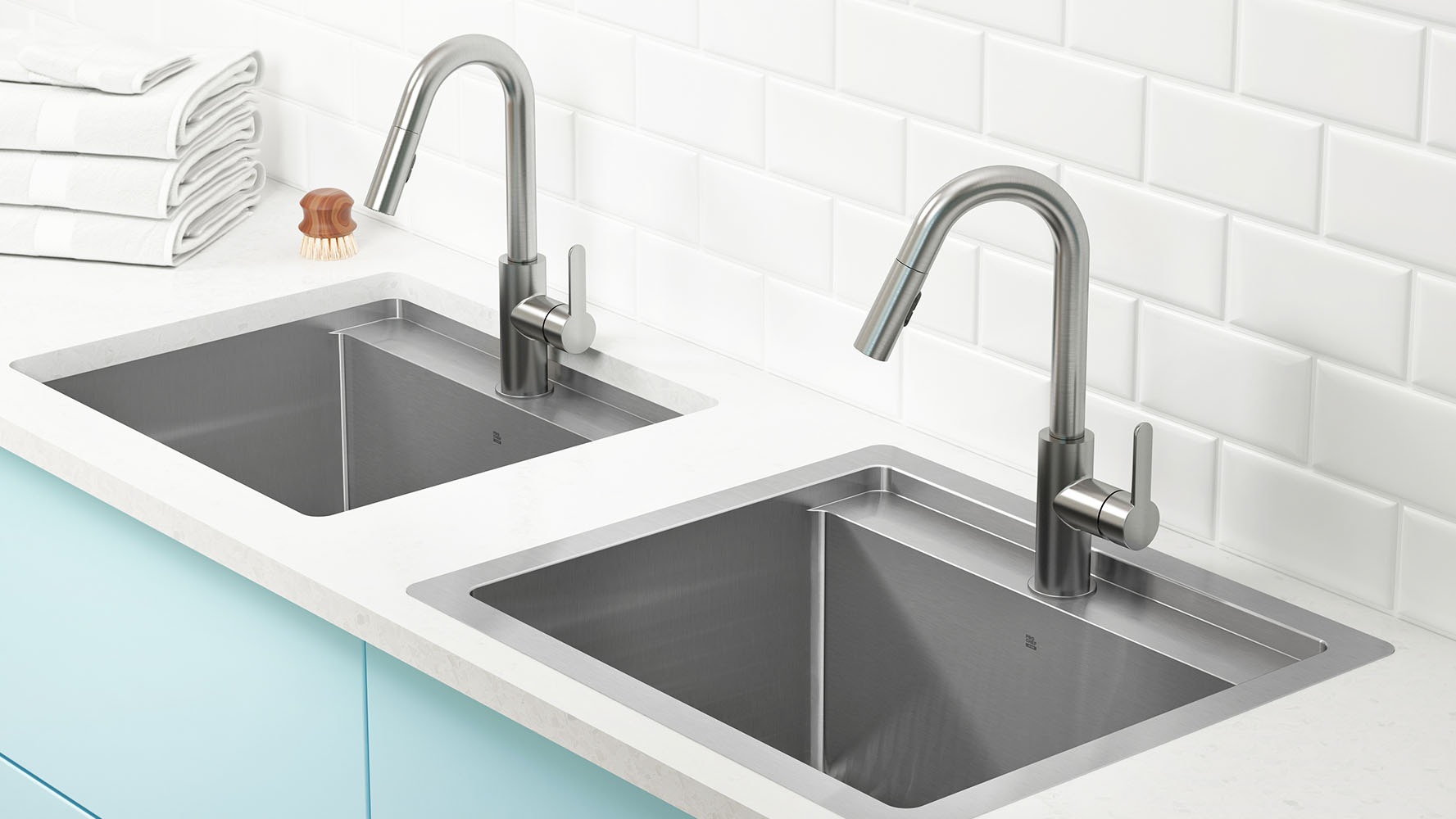 stainless steel kitchen sinks and fireclay sinks  prochef - new dualmount utility sink