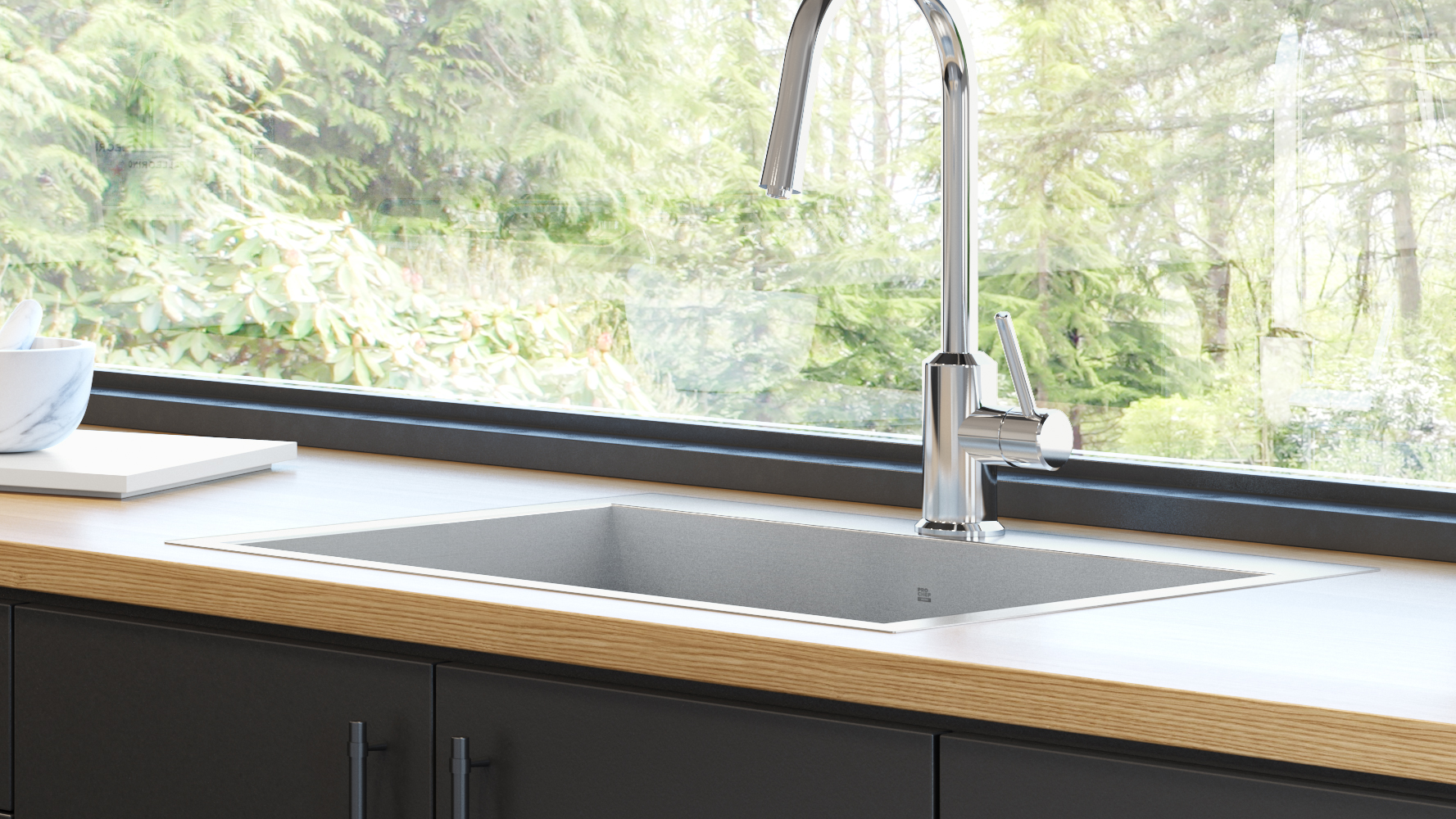 Stainless steel kitchen sinks and fireclay sinks - Prochef